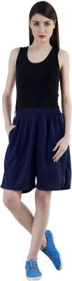 Dee Mannequin Self Design Women's Dark Blue Sports Shorts at flipkart