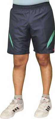 Poliss Solid Men's Blue Sports Shorts