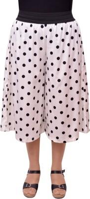 Gracediva Polka Print Women's White Culotte Shorts