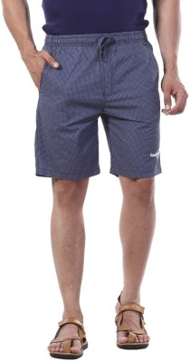 Bornfree Printed Men's Blue Bermuda Shorts