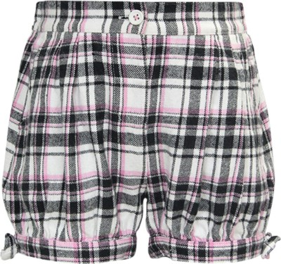 The Cranberry Club Striped Girl's White, Black Baggy Shorts