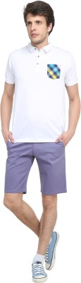 Colors Couture Solid Men's Blue Chino Shorts