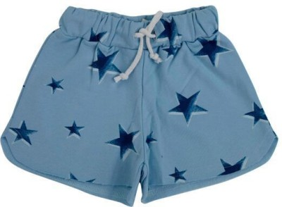 Fiore Printed Girl's Blue Basic Shorts