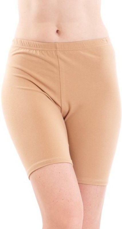 Fashion Line Solid Women's Beige Cycling Shorts