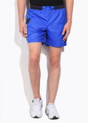 Fila Solid Mens Blue Sports Shorts