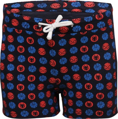 Tickles By Inmark Printed Boy,s Dark Blue Basic Shorts