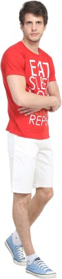 Colors Couture Solid Men's White Chino Shorts