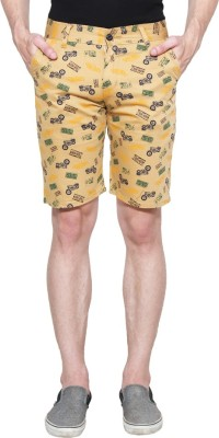 Ansh Fashion Wear Printed Men's Multicolor Chino Shorts