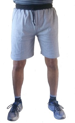 Pace Solid Men's Grey Sports Shorts