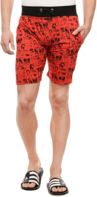Rose Taylor Printed Men's Red Beach Shorts