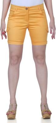 Fast n Fashion Solid Women's Orange Hotpants