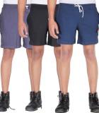 Frang Solid Men's Multicolor Bermuda Sho...