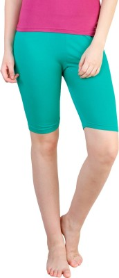 Rham Solid Women's Light Green Basic Shorts