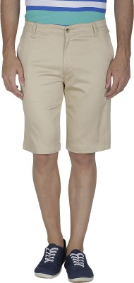 Inspire Solid Men's Beige Chino Shorts
