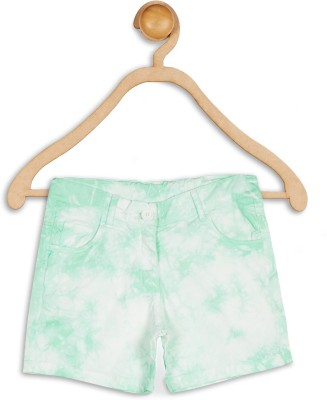 612 League Solid Girl's Green Basic Shorts