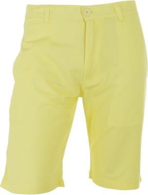 Faraday Solid Men's Yellow Basic Shorts
