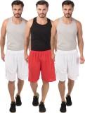 Meebaw Self Design Men's White, White, R...