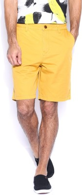 Quiksilver Solid Men,s Yellow Basic Shorts