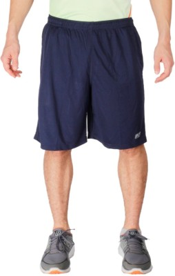 Vector X Solid Men's Blue Sports Shorts
