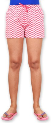 Riot Jeans Printed Women's Pink Boxer Shorts