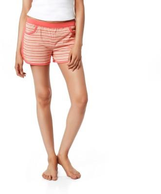 Mystere Paris Striped Women's Pink Night Shorts