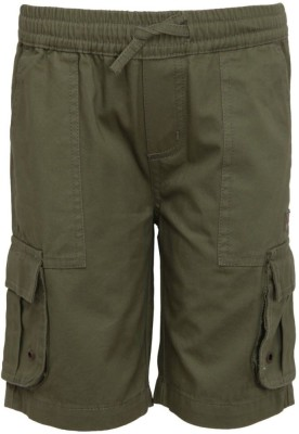 Bells and Whistles Solid Boy's Green Basic Shorts