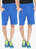 LUCfashion Solid Men's Blue Sports Short...