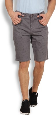 I-Voc Printed Men's Grey Chino Shorts