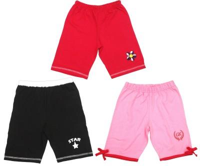 Gkidz Printed Girl's Multicolor Basic Shorts