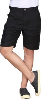 Hi-Sport Self Design Men's Black Basic Shorts
