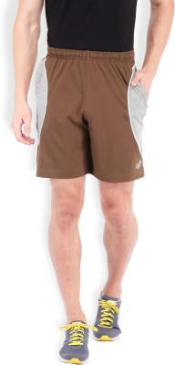 2go Solid Men's Brown, Grey Sports Shorts