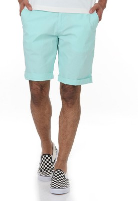 Shapes Solid Men's Light Green Chino Shorts