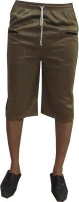 Revinfashions Solid Men's Brown Gym Shorts