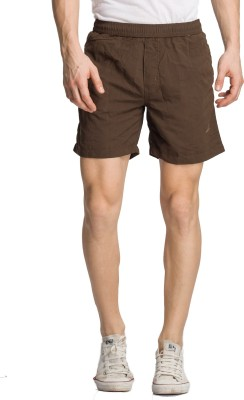 Bodymark Solid Men's Grey Night Shorts