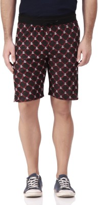 FREE RUNNER Printed Men's White Beach Shorts