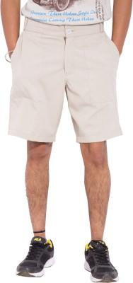 Tam Creatio Striped Men's Beige Basic Shorts