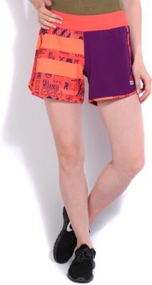 Reebok Printed Women's Multicolor Sports Shorts at flipkart