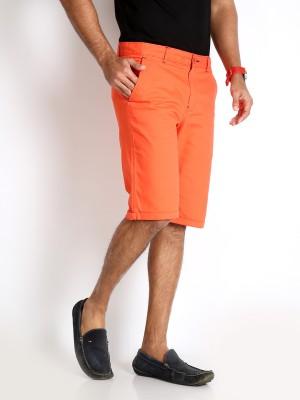 Rodid Solid Men's Orange Basic Shorts