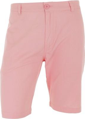 Faraday Solid Men's Pink Basic Shorts