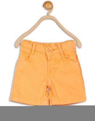 612 League Solid Baby Boy's Orange Basic Shorts