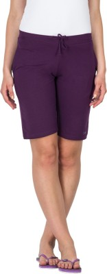 Lovable Solid Women's Purple Basic Shorts