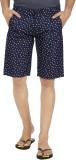 NH-12 Printed Men's Blue Chino Shorts