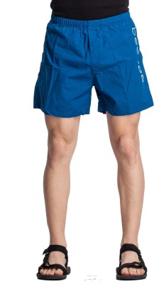 Beevee Solid Men,s Blue Basic Shorts