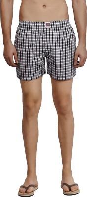 California Club Checkered Men's Grey Boxer Shorts