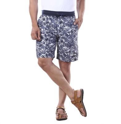 Bornfree Printed Men's Multicolor Bermuda Shorts