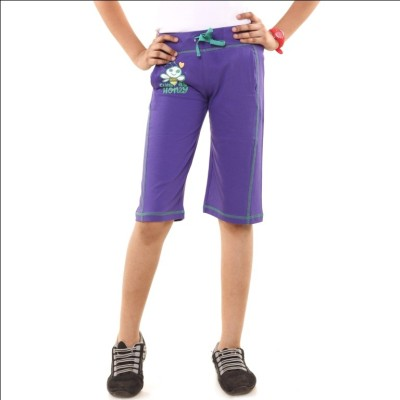 Menthol Printed Girl's Purple Board Shorts