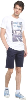 Colors Couture Solid Men's Dark Blue Chino Shorts