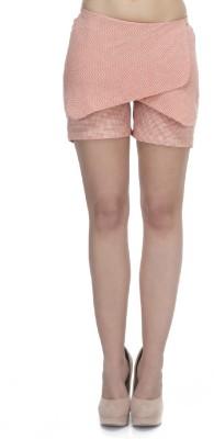 Zaivaa Checkered Women's Orange Basic Shorts