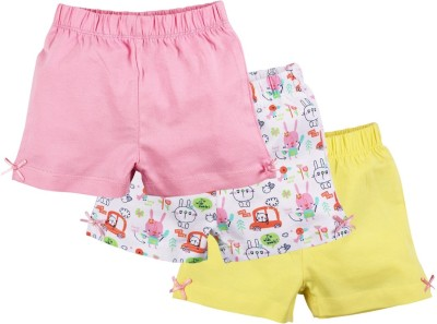 Baby Pure Printed Baby Girl's Multicolor Basic Shorts