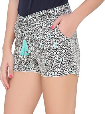 The Apparel Quotient Geometric Print Women's Multicolor Hotpants